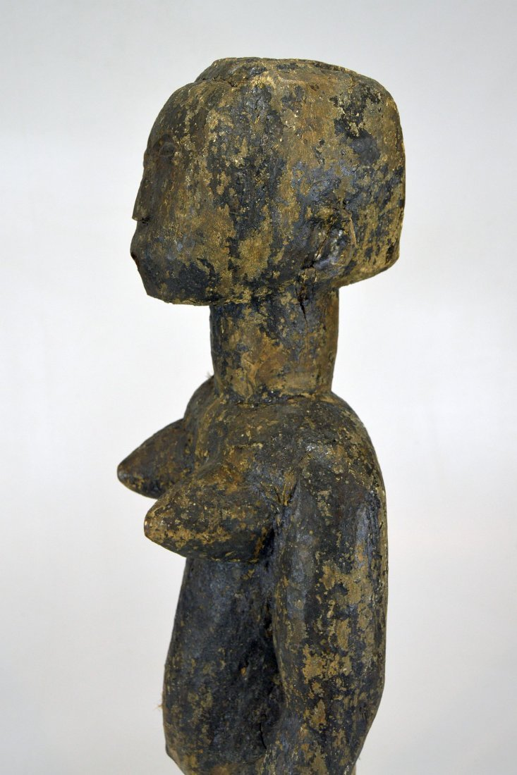 Large Old Primitive Akan Shrine figure, African Art - 9