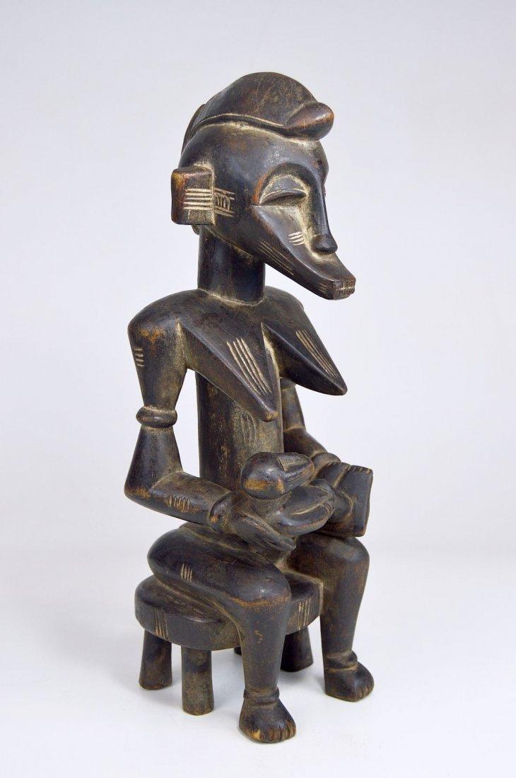 Senufo Korhogo Maternity sculpture on stool African Art - 2