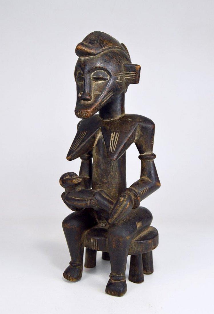 Senufo Korhogo Maternity sculpture on stool African Art - 3