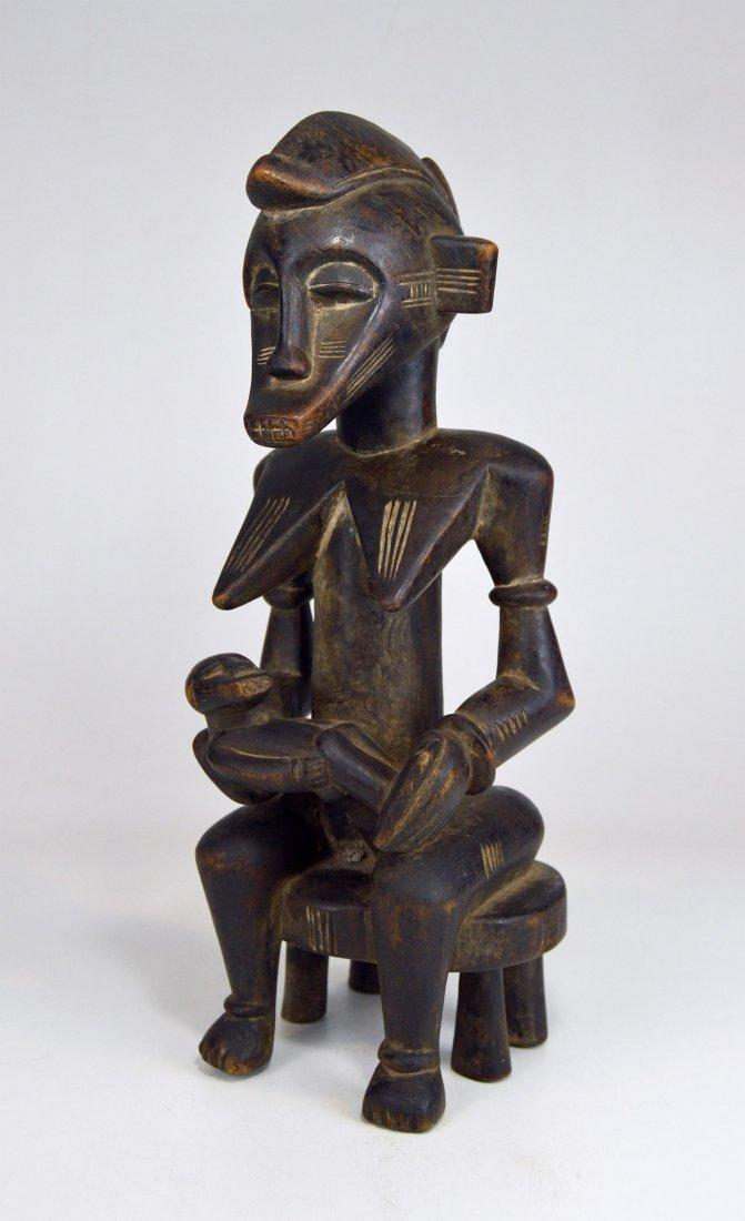 Senufo Korhogo Maternity sculpture on stool African Art - 4