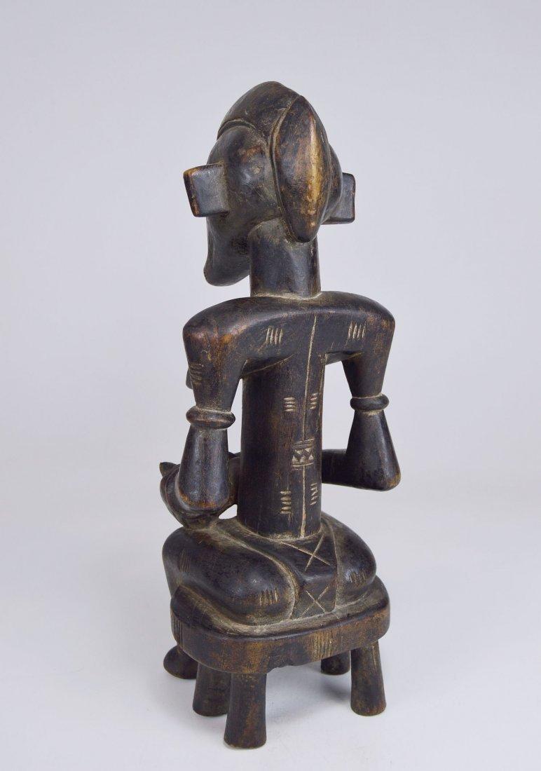 Senufo Korhogo Maternity sculpture on stool African Art - 6