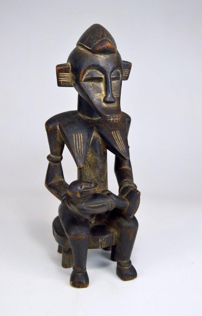 Senufo Korhogo Maternity sculpture on stool African Art - 8