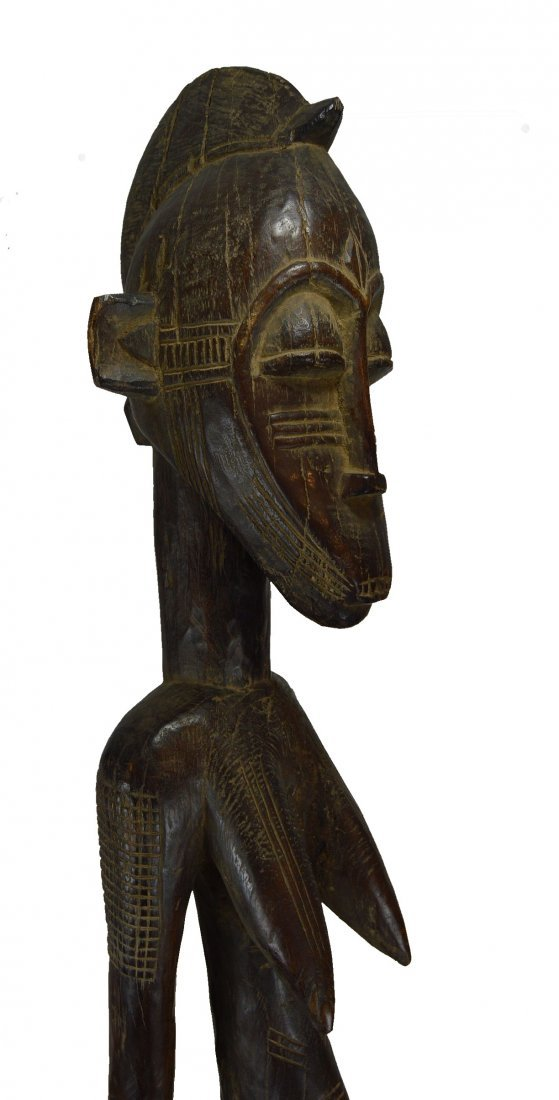 Monumental eroded old Senufo female sculpture, African - 3