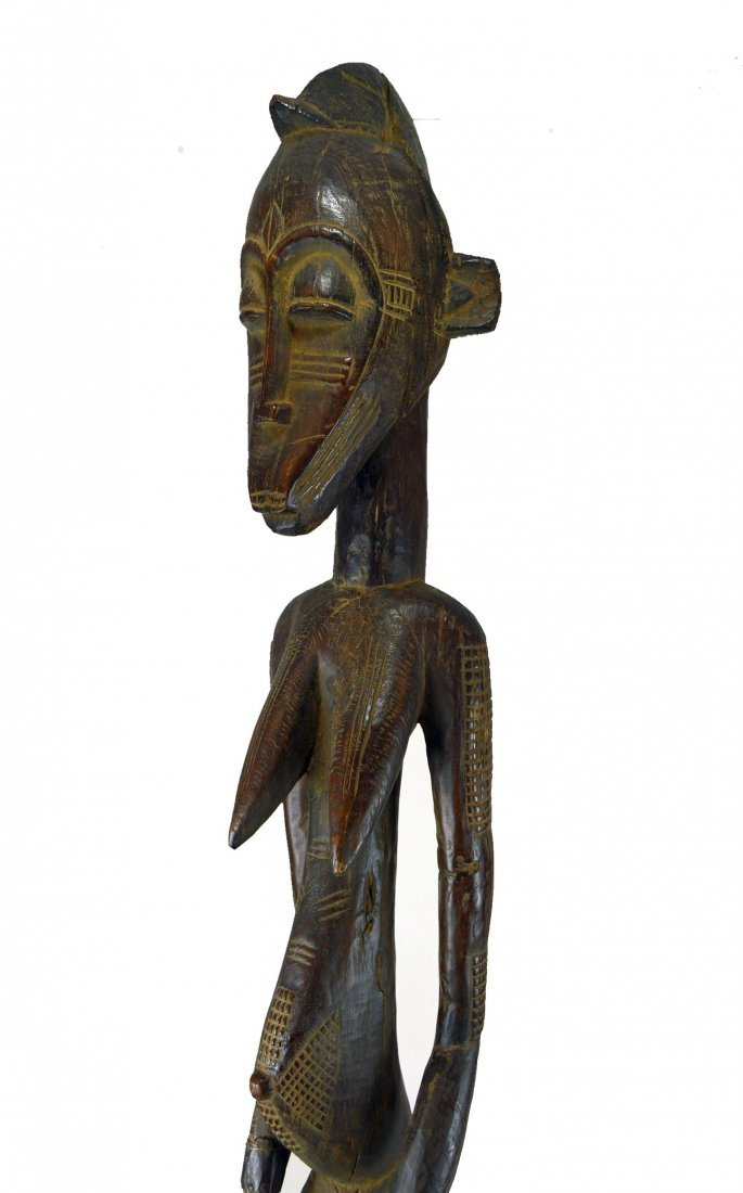 Monumental eroded old Senufo female sculpture, African - 4
