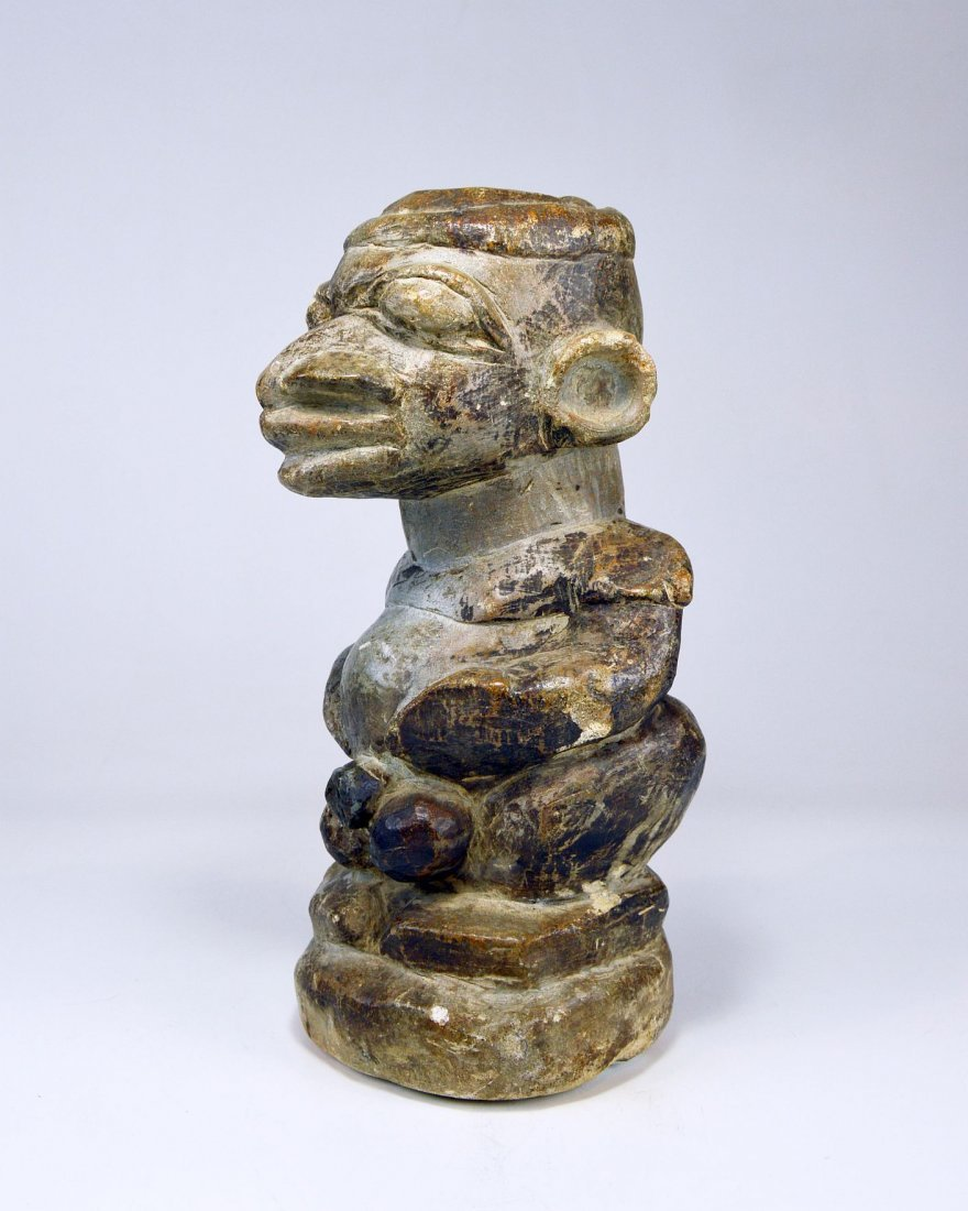 Mysterious Sapi Nomoli Stone Statue, Rare African Art