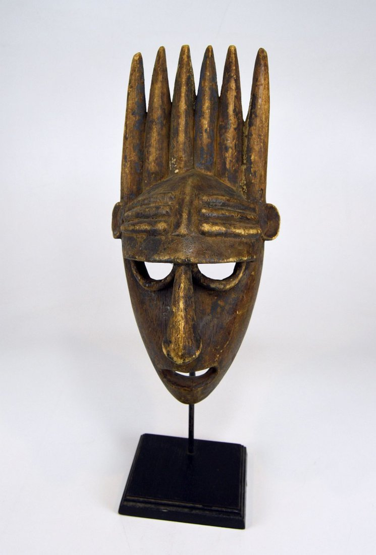 A Vintage Bamana N'tomo African mask - 2