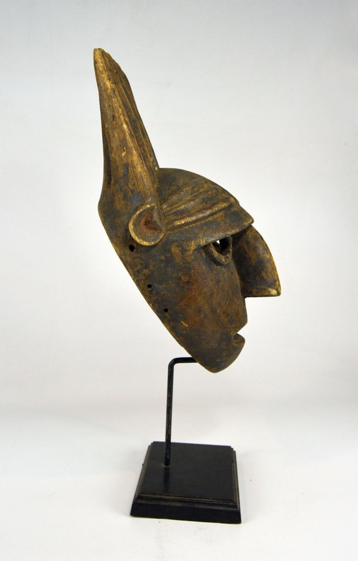 A Vintage Bamana N'tomo African mask - 3