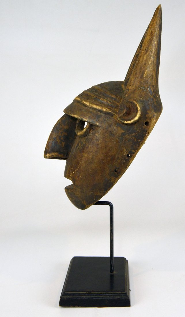 A Vintage Bamana N'tomo African mask - 4