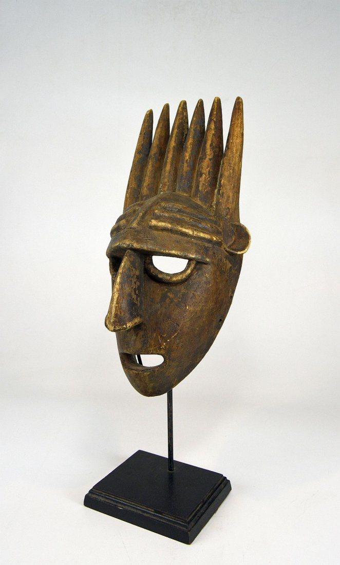 A Vintage Bamana N'tomo African mask - 5