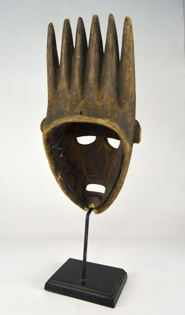A Vintage Bamana N'tomo African mask - 6