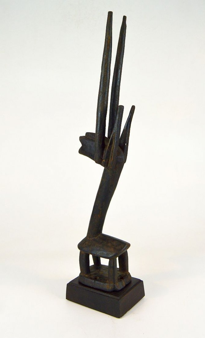 Wonderful Abstract Bamana Chiwara Antelope Headdress - 5
