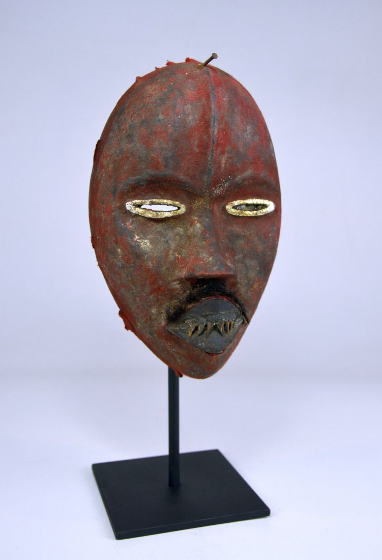 A Stunning Red Poro DAN African mask - 2