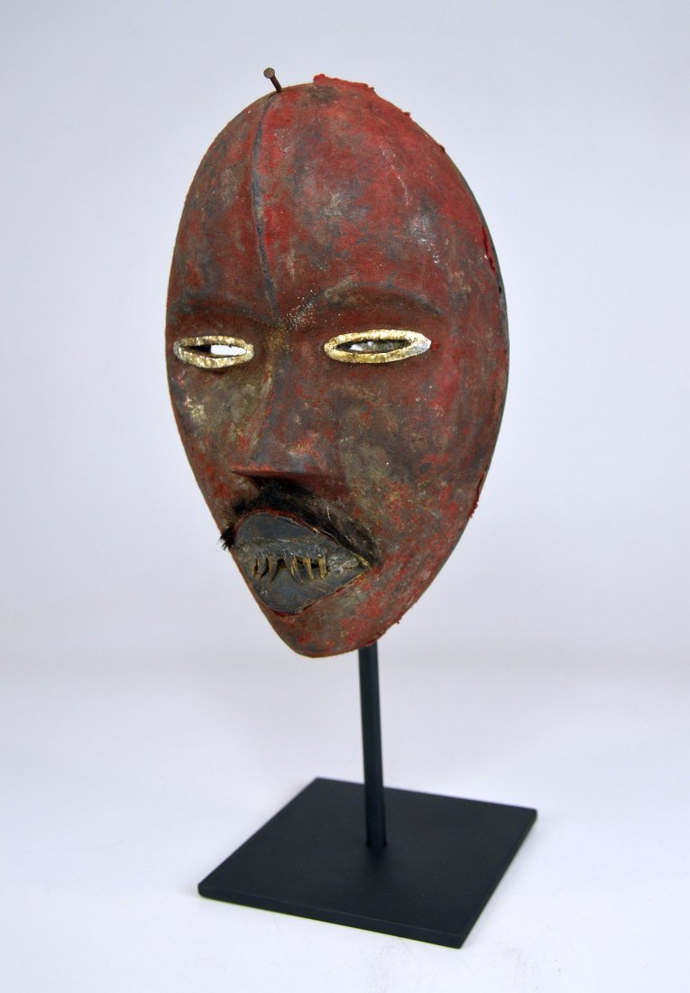 A Stunning Red Poro DAN African mask - 5