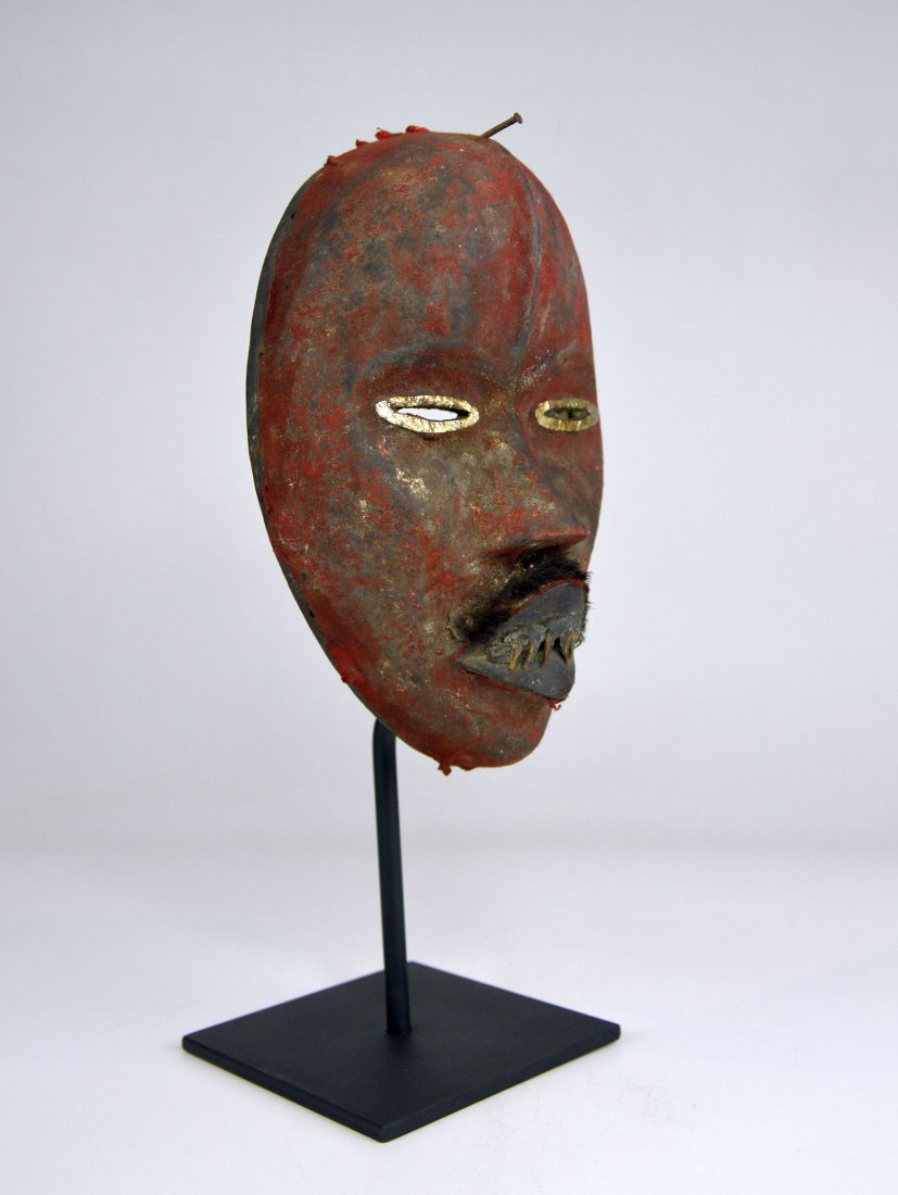 A Stunning Red Poro DAN African mask - 9