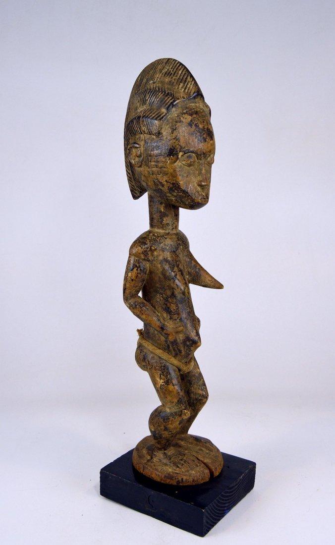 Vintage Baule Spirit Wife sculpture African Art - 3