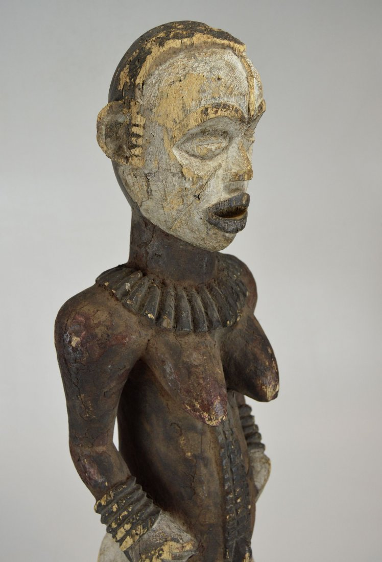 Large Old Idoma Anjenu Ancestor sculpture, African Art - 3