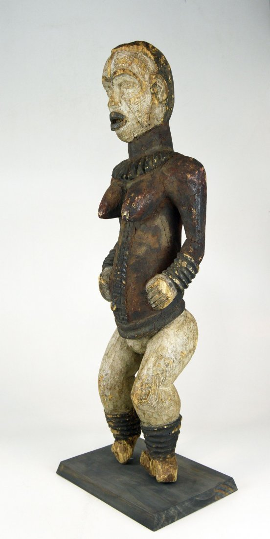 Large Old Idoma Anjenu Ancestor sculpture, African Art - 5