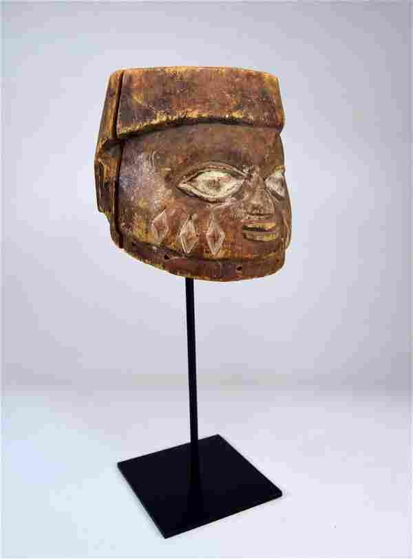 Well weathered old Yoruba Gelede Dance mask African Art
