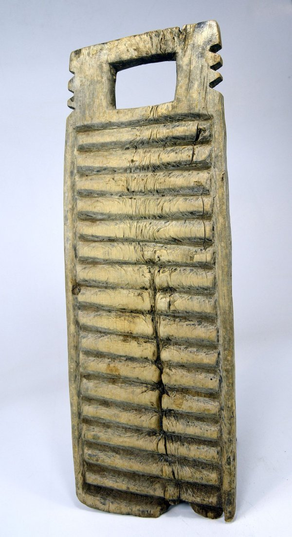 Two Antique African Washboards, African Form - 4