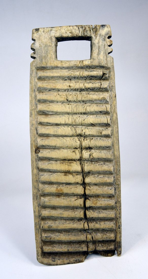 Two Antique African Washboards, African Form - 8