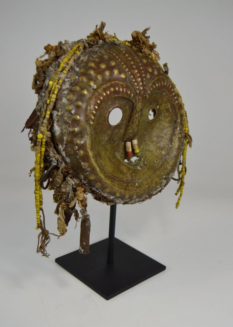 Rare Old Kwese Brass Dance Mask, African Art - 6