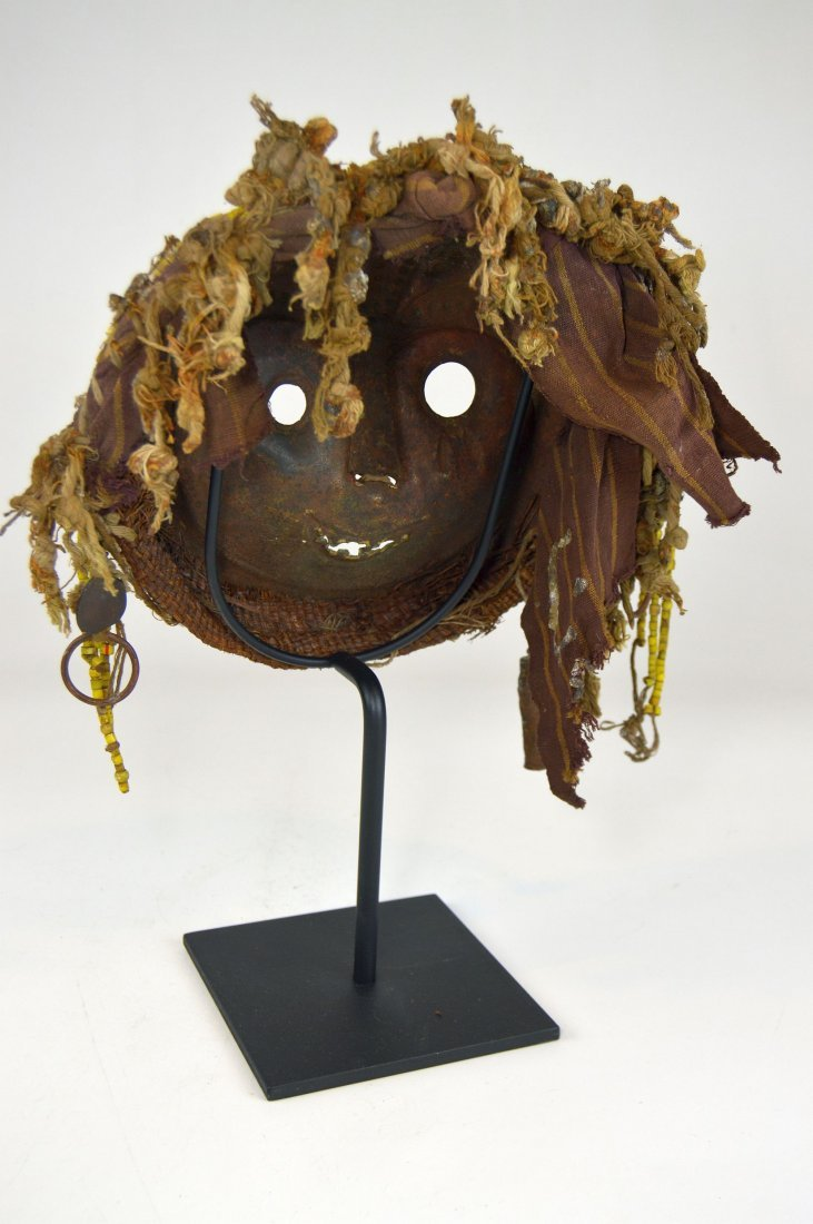 Rare Old Kwese Brass Dance Mask, African Art - 7