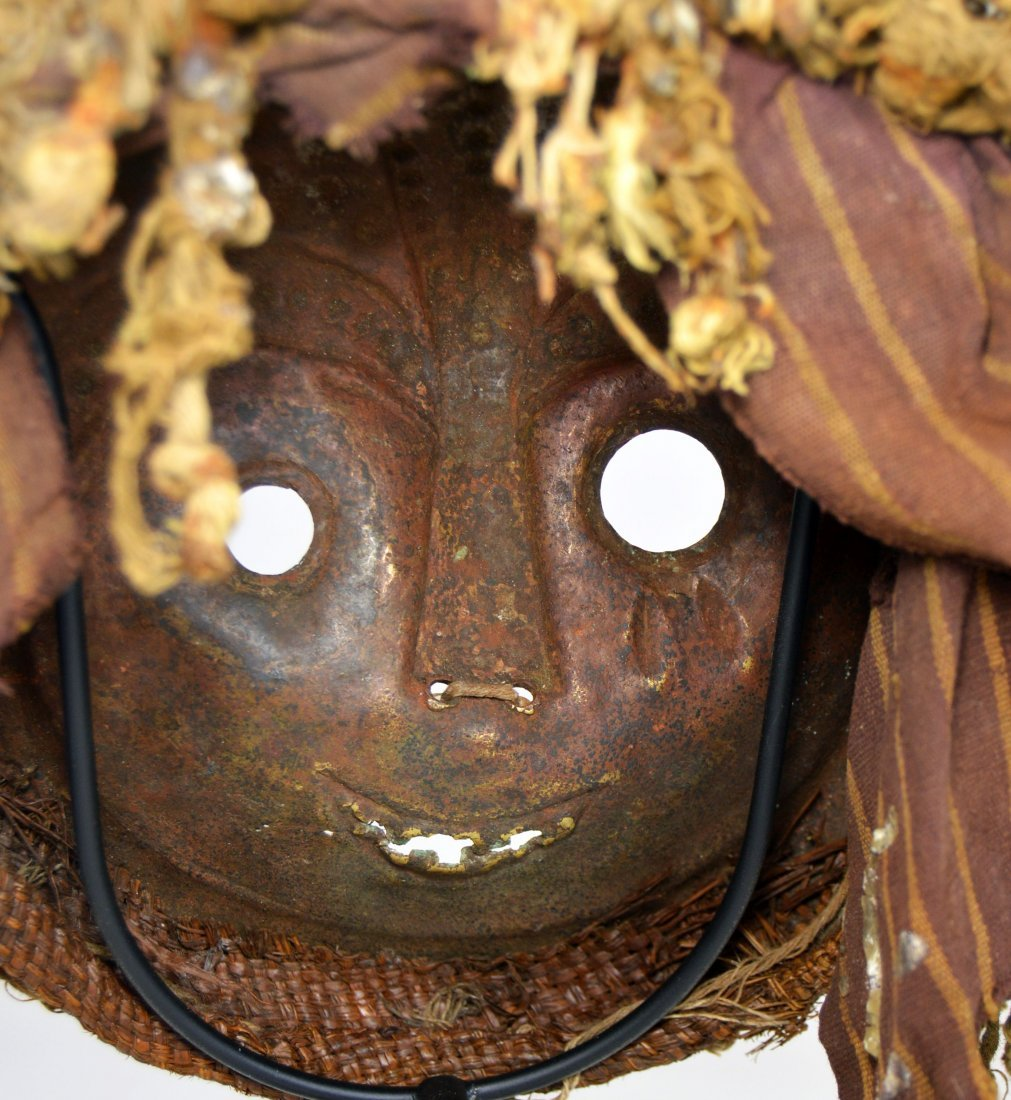 Rare Old Kwese Brass Dance Mask, African Art - 8