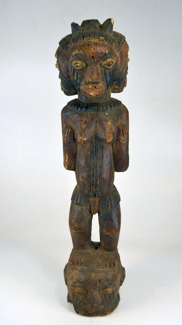 A Large Kuyu Ancestor sculpture w/ 3 faces, African Art - 2