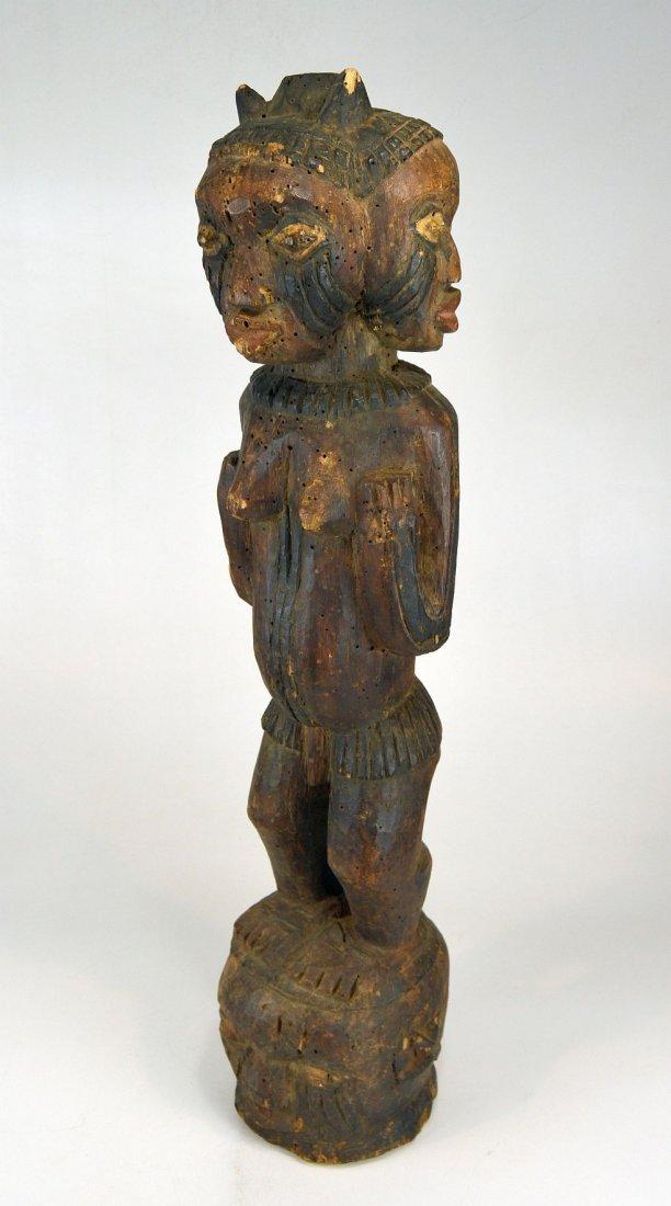 A Large Kuyu Ancestor sculpture w/ 3 faces, African Art - 3