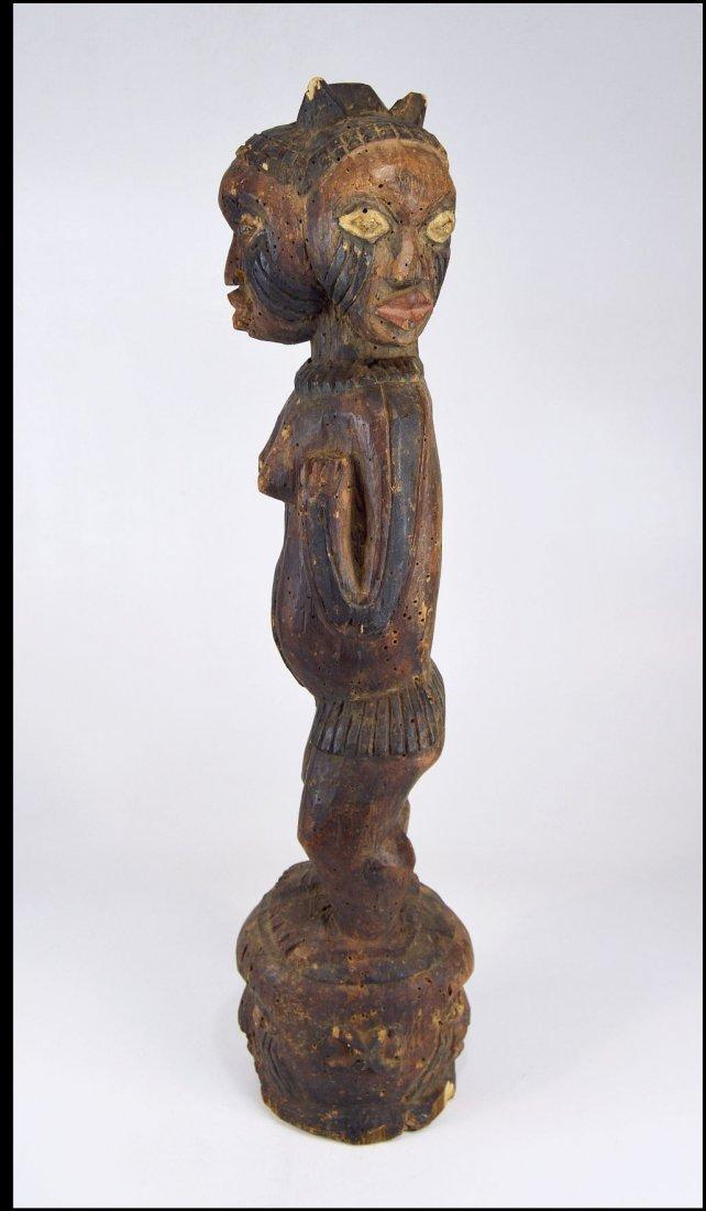 A Large Kuyu Ancestor sculpture w/ 3 faces, African Art - 4