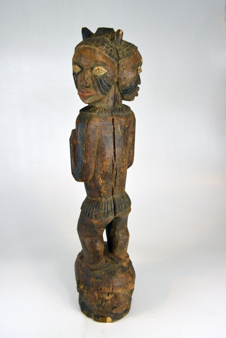 A Large Kuyu Ancestor sculpture w/ 3 faces, African Art - 5