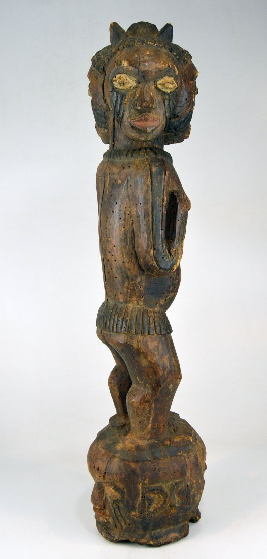 A Large Kuyu Ancestor sculpture w/ 3 faces, African Art - 6