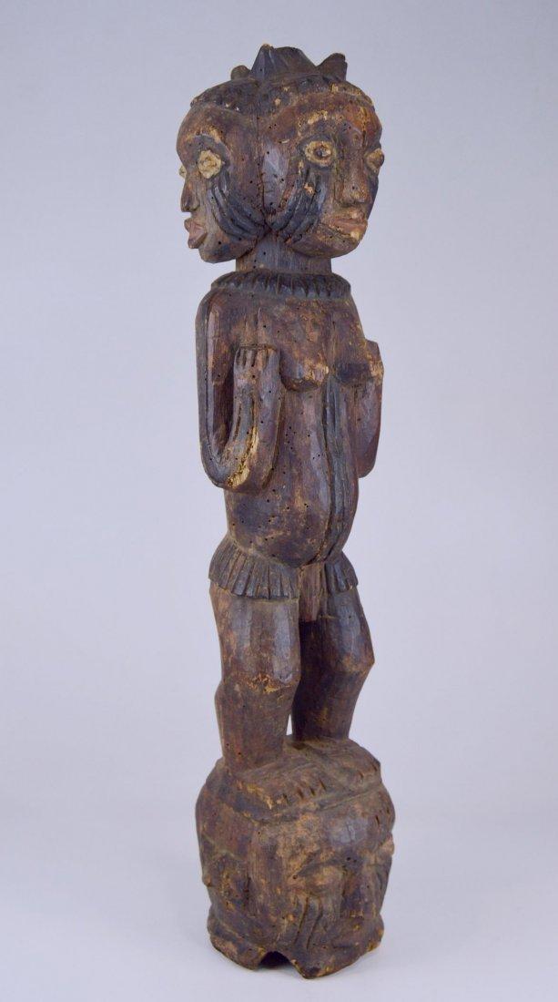 A Large Kuyu Ancestor sculpture w/ 3 faces, African Art - 7