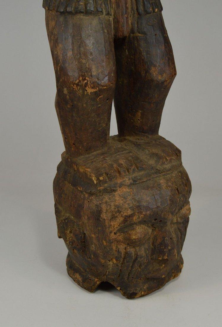 A Large Kuyu Ancestor sculpture w/ 3 faces, African Art - 8