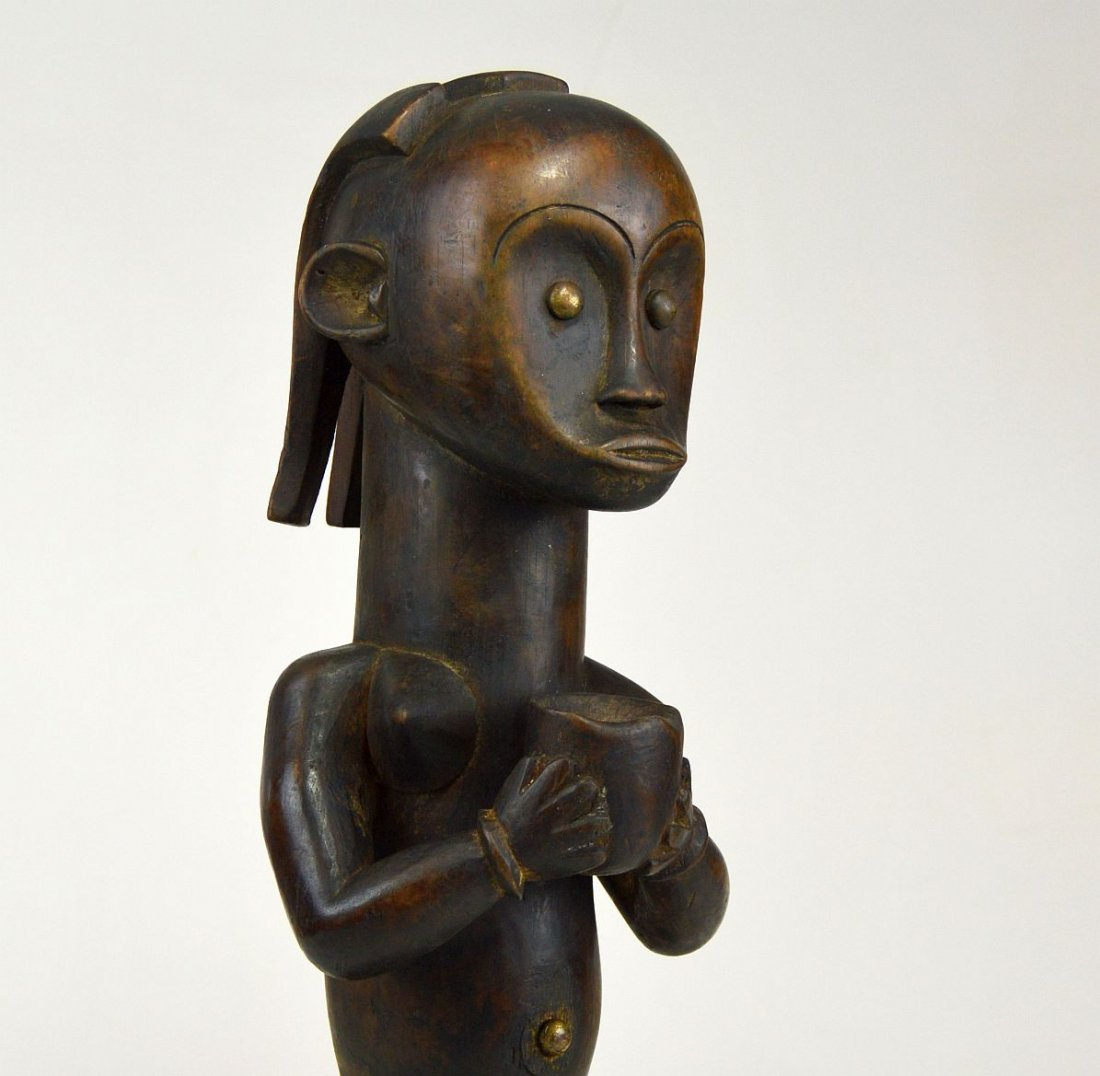 Fang Female ancestor with Offering vessel, African Art - 4