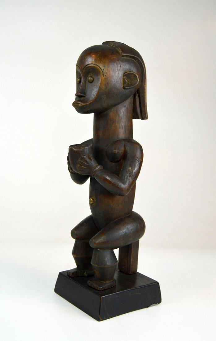 Fang Female ancestor with Offering vessel, African Art - 5
