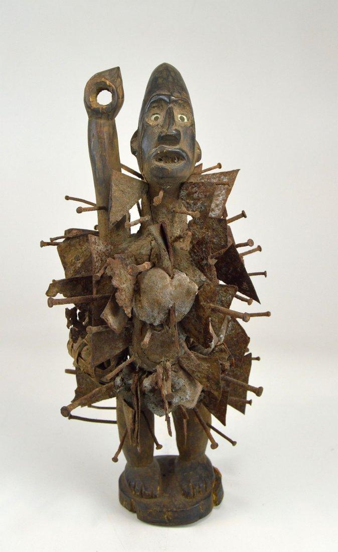 Vintage Kongo N'kisi Magic Nail Fetish African Art