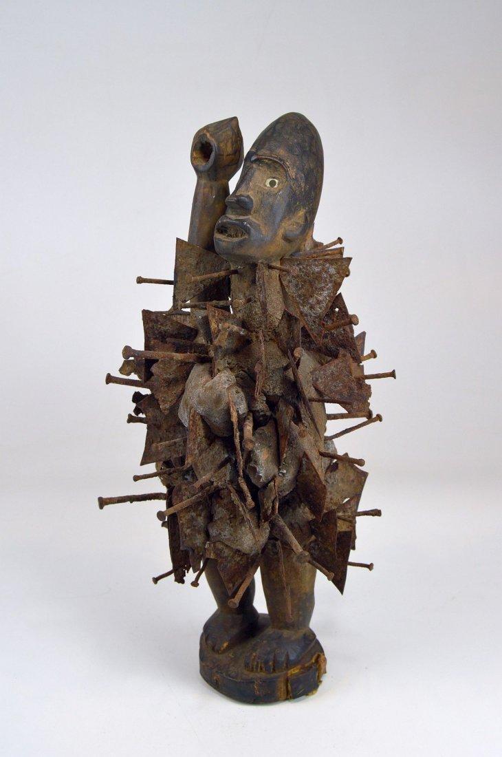 Vintage Kongo N'kisi Magic Nail Fetish African Art - 2
