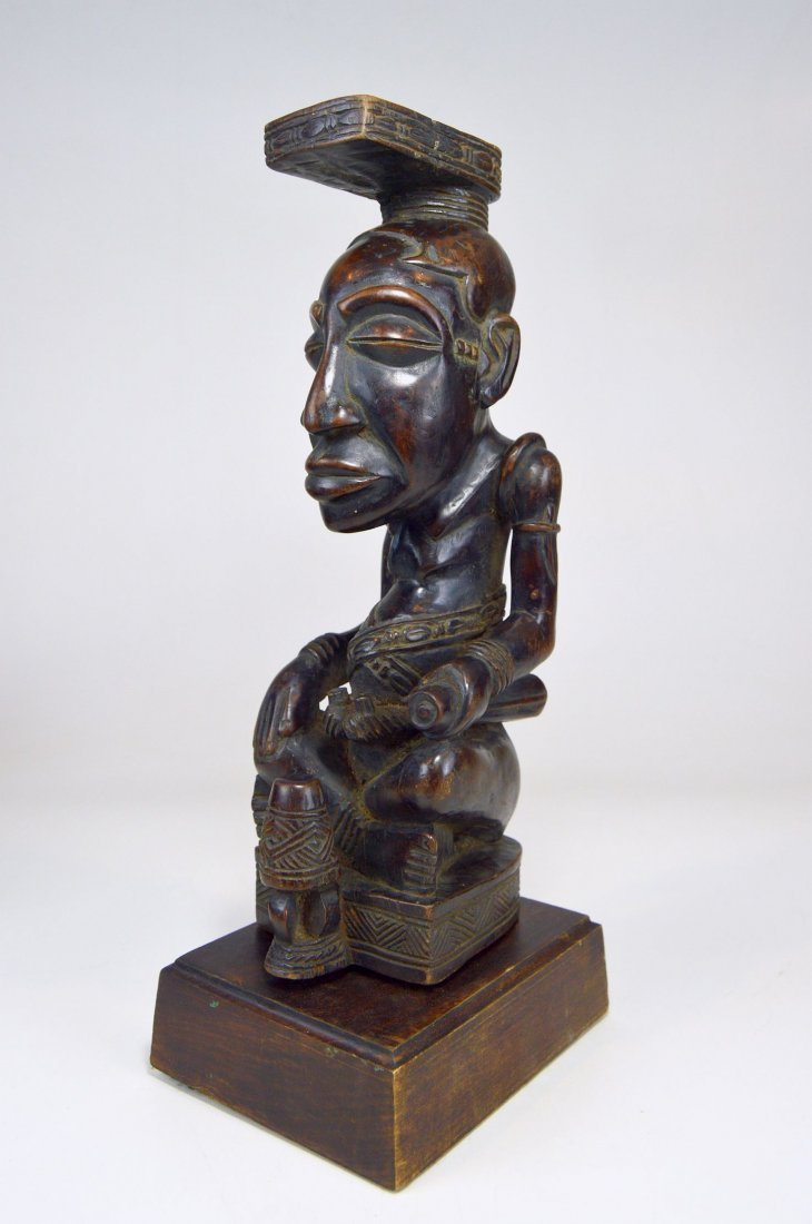 A Fine Kuba Ndop sculpture of the King