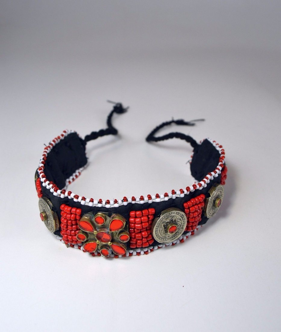 Vintage Kutchi Tribal Choker necklace, Ethnic Adornment