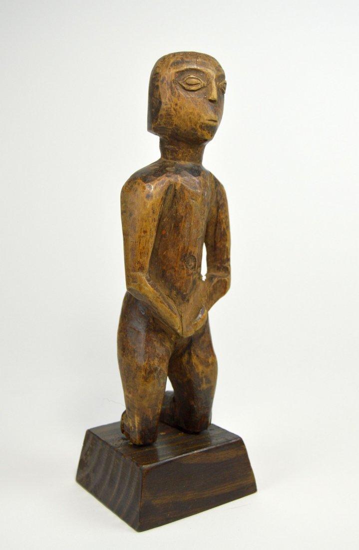 Old East African Ancestor Sculpture of Kneeling Female