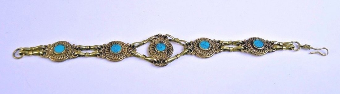 Nice Tribal Turquoise Bracelet from Afghanistan