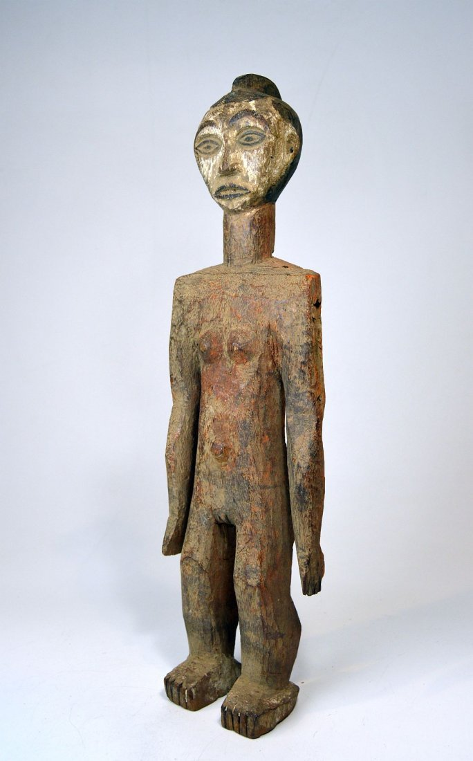 Afo Female Ancestor sculpture with Red pigment