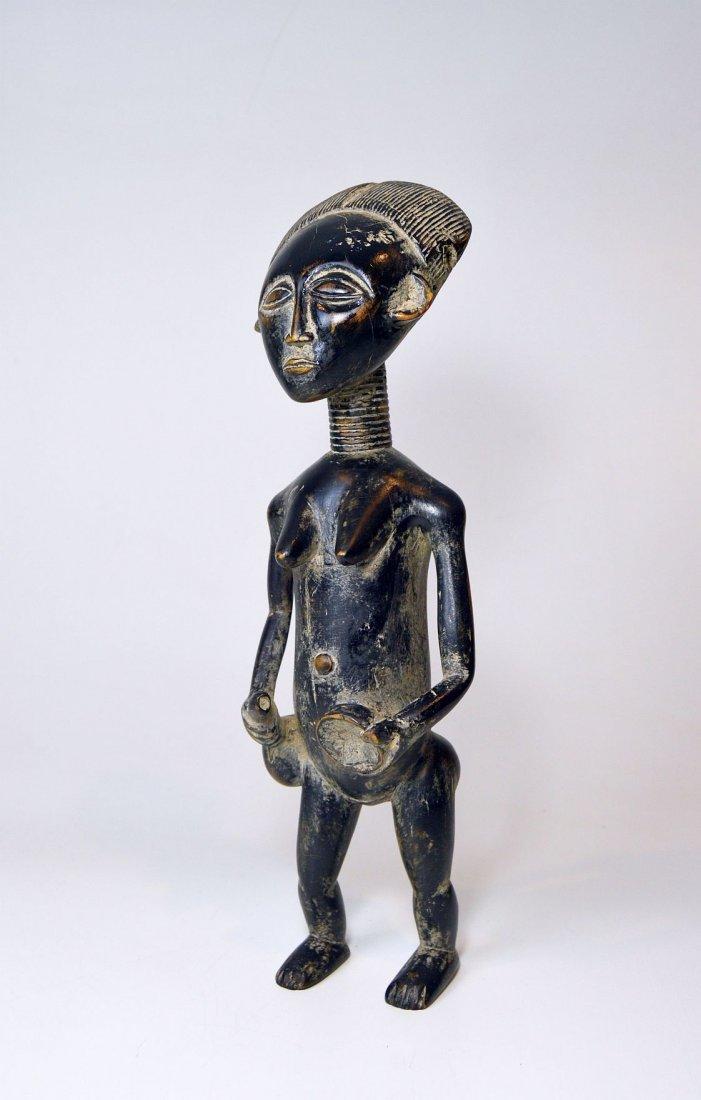 Old Ashanti female Ancestor sculpture African Art