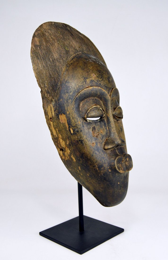 A Well weathered Old Baule Peoples African Dance Mask