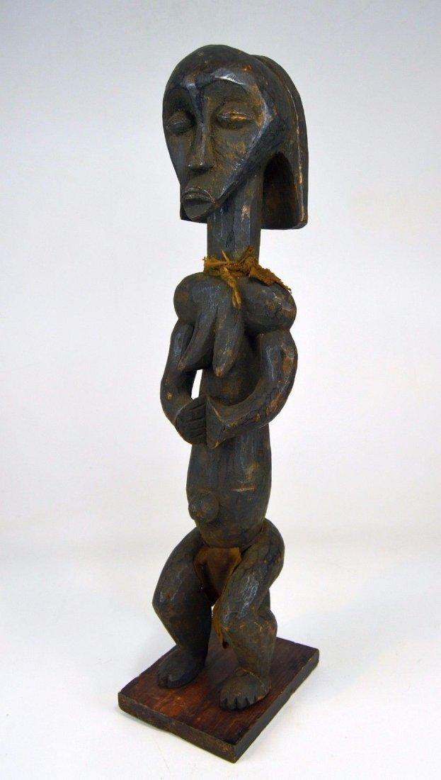 Vintage Fang Female Ancestor African Art sculpture