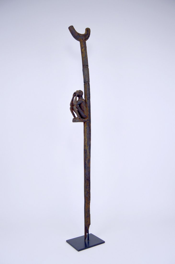 Rare Old Fon Cane Shrine fetish Object Monkey motif