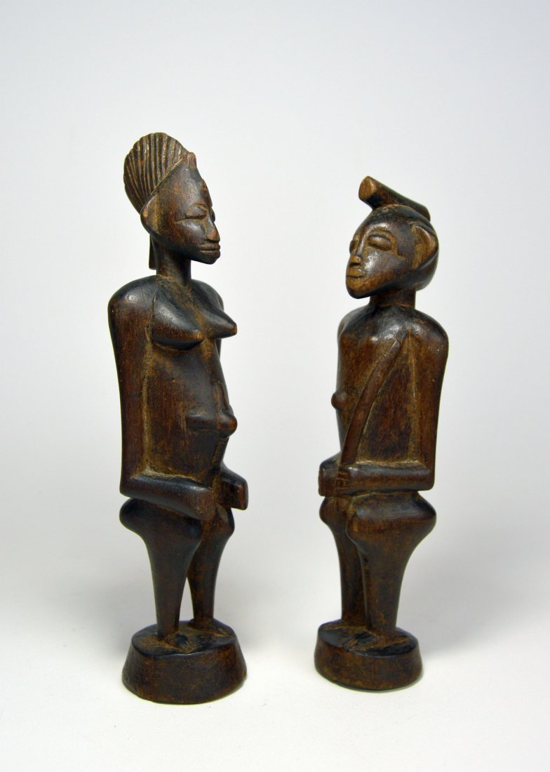 A Very Fine Old Pair Of Senufo figures, African Art