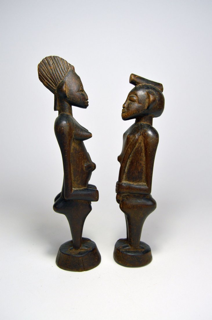 A Very Fine Old Pair Of Senufo figures, African Art - 3