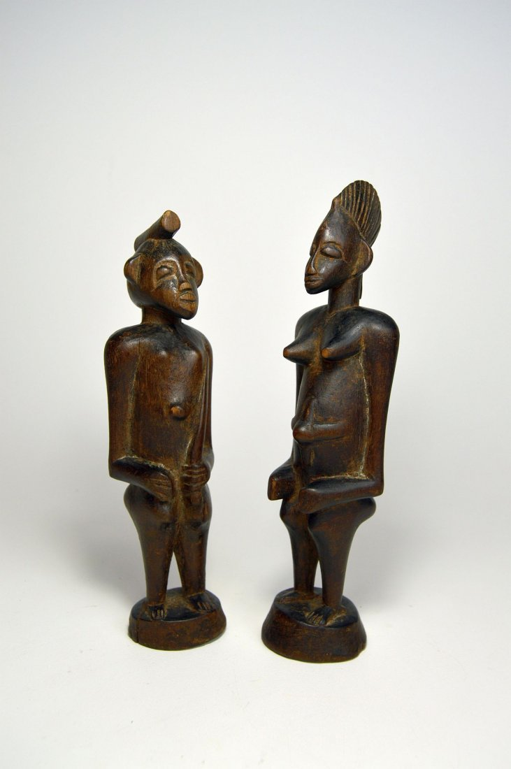 A Very Fine Old Pair Of Senufo figures, African Art - 4